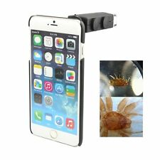 60X Zoom LED Microscope Telescope Camera Lens For iPhone 5 6 6 Plus + Back Case