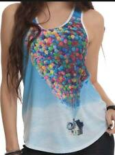 S or M Disney~UP~movie~IN THE SKY~Carls House~sublimation~BALLOON~TANK TOP~shirt