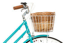 NEW Vintage Bicycle FRONT Cane Basket with White frame REID CYCLES