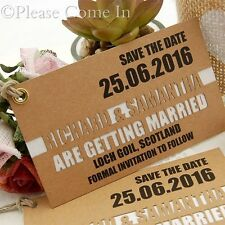 Personalized Double Layer Kraft Save the Date Tags for Rustic Wedding