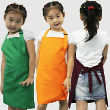 7 Style Child Kids Pocket Craft Cooking Baking Kitchen Dining Overclothes Aprons