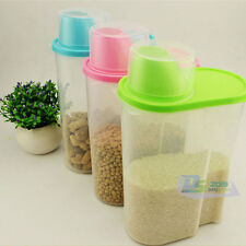 2.5 L Plastic Dry Dried Food Cereal Pasta Storage Dispenser Rice Container Box