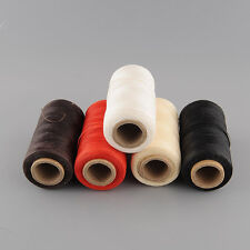 260Meter 1mm Leather Flat Waxed Wax Thread Sewing for DIY Tool Stitching