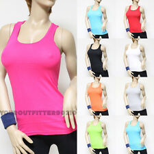 women's 100% cotton Racer Back stretch tank top Yoga gym cami sexy hot tee new