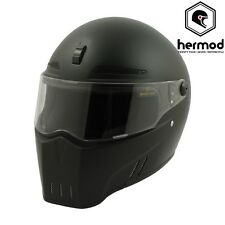 Bandit Alien 2 II Motorcycle Streetfighter Helmet ECE-2205 Road Legal-Matt Black