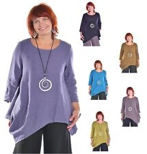 BRYN WALKER USA HEAVY-weight Linen DECA SHIRT Angle Tunic Top S  M L XL 6 COLORS