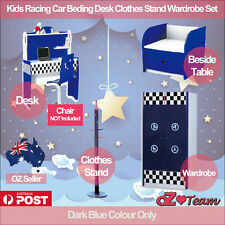 Kids Racing Car Bed Children Race Bedding Desk Clothes Stand Wardrobe