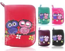 Fashion Ladies Faux Leather Owl Couple Zip Small Coin Purse Womens Wallet Card H