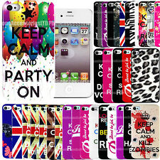 Designer Case Cover Hard Back Keep Calm For Samsung Galaxy Various Phone Modles