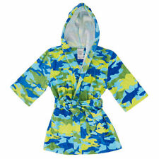 St. Eve Boys' Hooded Beach Cover-Up Blue / Shark Camo