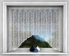 Net Curtain Jardiniere, White Net Lace Curtains, Leaf Design Jardinieres