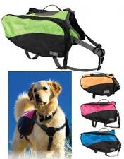 Dog Backpacks for Dogs - S to XL - 4 Colors - bright colors visibility !