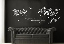 Big Size Tree Leaves Art Vinyl Wall Stickers Home Decals Letters Words Decor