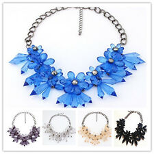 New Transparent Flower Shape Pandent Chain Necklace Jewelry For Party Gift