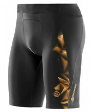 * NEW * Skins Compression A400 Mens Half Tights (Gold) + FREE AUS DELIVERY