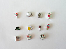 Food Floating Charms -Ice Cream-Wine-Coffee Cup-Beer-Cookbook-Free Shipping