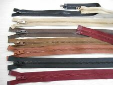 Big teeth and/or double pull plastic separating zippers various FREE SHIP