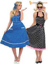 Ladies Rock N Roll 1950s Fancy Dress Costume Poodle Polka Dot 50s Jive Outfit