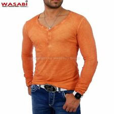 Wasabi wsb-1346 patched Batik Y-Neck Longsleeve Orange -SALE!