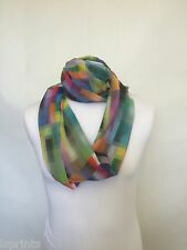 PIXALATED INFINITY SCARF JERSEY OR CHIFFON UNISEX FASHION PRINTED LOOP SCARVES