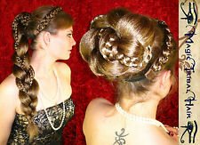 BRAID ALL COLOURS Gothic Tribal Fusion MEDIEVAL HAIR PIECE FALL Larp STEAMPUNK