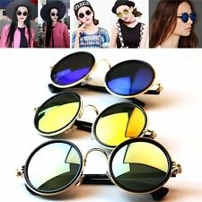 New Fashion Women Men Unisex Vintage Round Mirror Lens UV400 Sunglasses Glasses