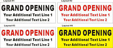 2ftX5ft Custom Printed GRAND OPENING Banner Sign with Your Additional Text