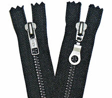 YKK ZIP BLACK METAL TEETH,CLOSED END,HEAVY DUTY NUMBER 5,CHOOSE SIZE