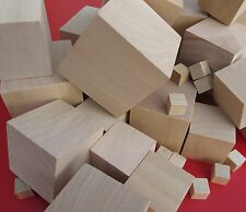 Natural Wooden Craft Cubes Wood Block Cube 10mm to 75mm Diameter