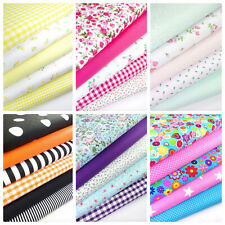 FABRIC BUNDLES FAT QUARTERS POLYCOTTON FLOWERS GINGHAM SPOTS CRAFT