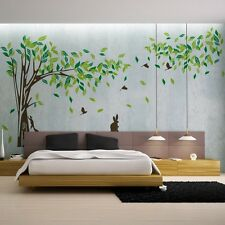 large Green Leaves Tree Art Jungle Wall Sticker Wall Decals home decor wallpaper