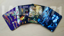 4x, 6x  OR 33x Prince album cover gloss, wooden drink coasters 90mm x 90mm x 4mm
