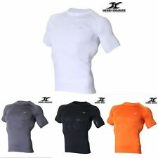 Mens Short Sleeves Compression Shirts Base Layer Short Sleeves Top SS
