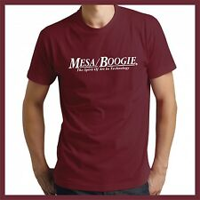 Mesa Boogie Spirit of Technology logo Burgundy short sleeve tshirt