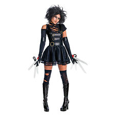Ladies Official Sexy Miss Edward Scissorhands Fancy Dress Halloween Costume