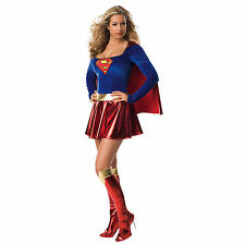 Ladies Official SUPERGIRL Superhero SuperWoman Party Fancy Dress Costume