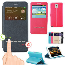 Flip PU Leather Case Cover Skin Window Stand for Samsung Galaxy s3 s4 s5 Note 3