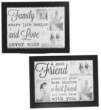 Vintage Friend Family Quoted Padded Photo frame Bean Bag Base Lap Tray Laptray