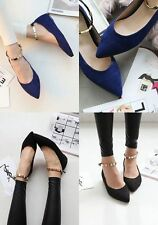 The new spring shallow mouth chain pointed flat shoes shoes flat shoes