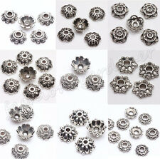 New 200Pcs Tibet Silver Metal Spacer Bead Caps 6/7/8/9mm Jewelry Findings