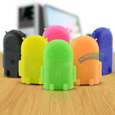 Cute Robot Micro USB Host OTG Adapter Converter Android For Samsung Galaxy S3 S4