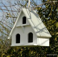 NEW Small Shabby Chic Hanging Wooden Dovecote Style Bird House Garden Feeder Box