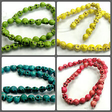 skull beads synthetic howlite turquoise  10mm x 8mm 1 strand approx 40 pcs