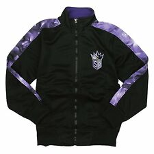 Zipway NBA Basketball Youth Sacramento Kings Full Zip Magma Track Jacket, Black