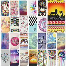 Cute Painting Magnetic Flip Wallet Leather Stand Case Cover Fr iPhone 5 6 6 Plus
