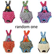 Color Random Pet Female Dog Dots Suspender Braces Sanitary Pants Diaper XXS-XL