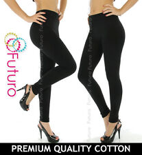 Leggings Full Length Black Cotton All Sizes 8-22