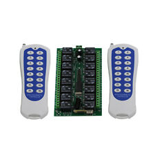DC 24V 16CH Channel Wireless RF Remote Control Switch Transmitter+ Receiver