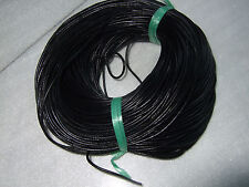 10/25/100 Yards 3.0mm Black Round Genuine Real Leather Jewelry Making Cord