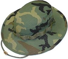 Mil.Issue Tactical Woodland Camouflage Boonie Busch Hat Govt Contract 300-317